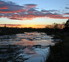 Sunset over ice on Mill Creek (walla2chick) Tags: sunset usa ice water creek wa wallawalla millcreek platinumphoto diamondclassphotographer flickrdiamond wonderfulworldmix wilburrd