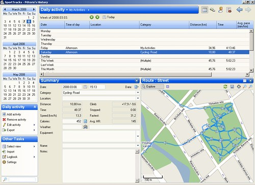 SportTracks screenshot