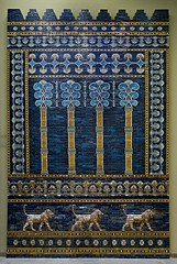 Pergamon Museum - Ishtar Gate _DSC17931 (youngrobv) Tags: berlin brick archaeology museum germany tile deutschland nikon gate europa europe european bricks relief tiles german arabian d200 babylon ishtar glazed pergamon assyrian babylonian polychrome ishtargate archaeologist nebuchadnezzar museumisland 0802 18200mmf3556gvr polychromed nebuchadnezzarii museeinsel youngrobv   dsc17931 babishtar robertkoldewey