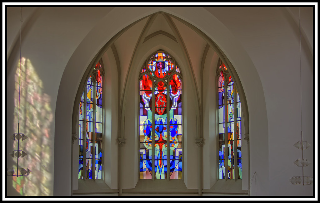 Stained-glass window (HDR)