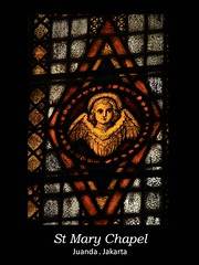 St Mary Chapel_Glass Angel (Ejuice) Tags: jakarta juanda stmarychapel