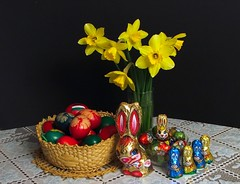 Happy Easter! ( tournesols) Tags: flower rabbit colors easter hungary eggs magyarorszg happyeaster hsvt sobeautiful goldenglobe nrcisz llovemypic