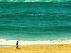 When a fishermen fear the Atlantic Ocean (@mine) Tags: ocean sea mer beach grande big fisherman waves alone fear small morocco maroc vagues pecheur plage petit seul atlantique moulay naturewatcher bousselham theperfectphotographer elcasaoui yourphototips amiine