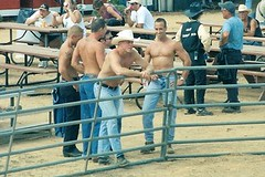 Hot Day at the Rodeo (jrozwado) Tags: shirtless usa men cowboy maryland rodeo gaithersburg