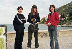 Three Sisters (Ed Chadwick) Tags: leica friends people film kodak greece portra m2 irini dimitra angeliki 160nc kiveri