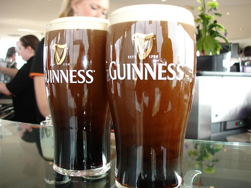 "Two perfect pints o"" the brown."