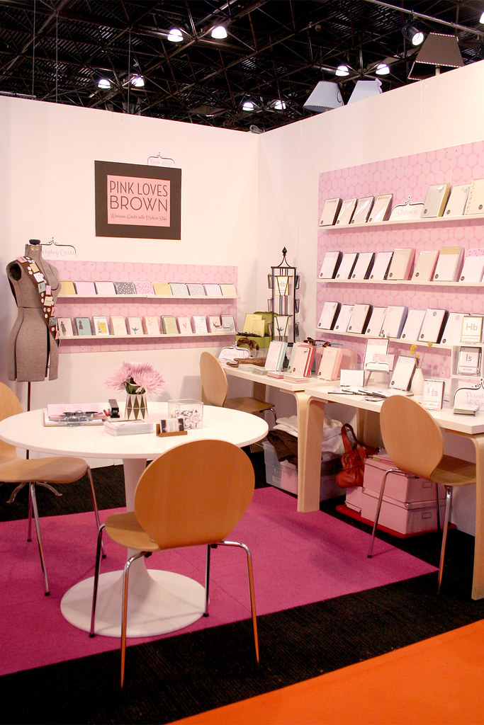 Pink Loves Brown at the National Stationery Show, 2008