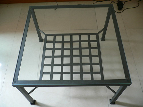 Coffee Table - Wrought Iron with Glass top