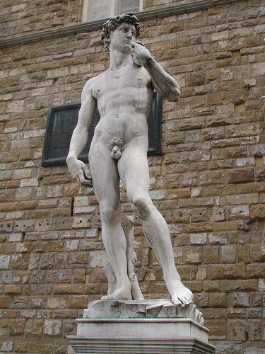 A copy of David.  Being naked must mean less wind resistance with the slingshot.
