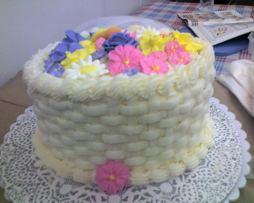 Cake flower basket - Course 2 completed project