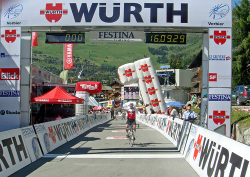 My first stage victory - Verbier