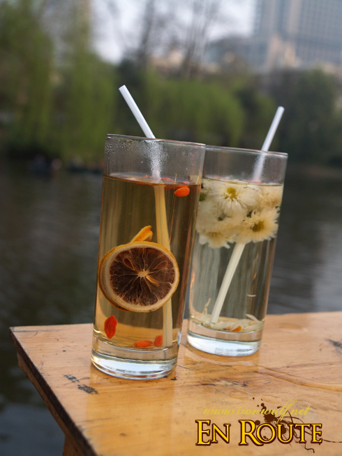 Lemon and Chrysanthemum Tea at the Park