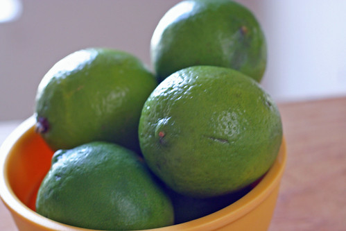 bowl of limes
