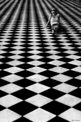 Game of Life (Ben Heine) Tags: life original wallpaper blackandwhite woman paris france art love monochrome smile mystery youth composition print poster freedom photo vanishingpoint model pretty poem pattern dof sweet pov squares geometry modernart stripes femme faith perspective chess happiness palace jeunesse queen libert versailles unknown palais fav seduction sensuality copyrights past reine gomtrie depth contrasts opticalillusion pleasure tender patron hunt freshness vie checs confidence gameoflife thomasmoore jeux schma vrijheid profondeur carrs losanges benheine hubertlebizay inthemorningoflife jeuxdchec flickrunited infotheartisterycom