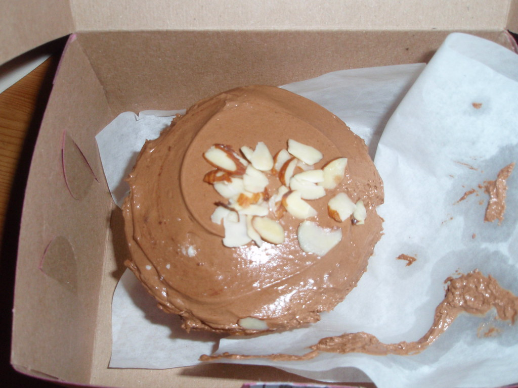 Macrina Bakery almond cupcake