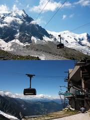 Le telepherique de l'Aiguille du Midi (Tanis.Chou) Tags: france chamonix aiguilledumidi telepherique