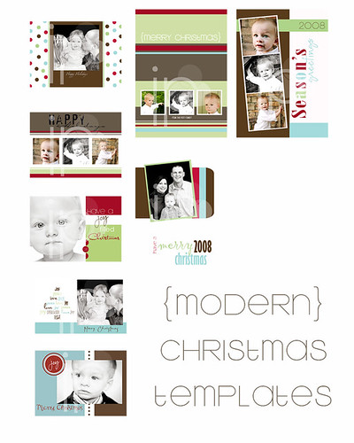Christmas Card Templates - $60