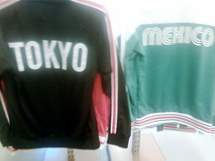 Old Navy's not-quite-Olympic hoodies (Tokyo 64 and Mexico 68)