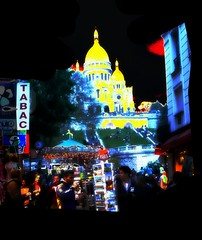 Montmartre _ PARIS _   by night __ 7.53pm CEST