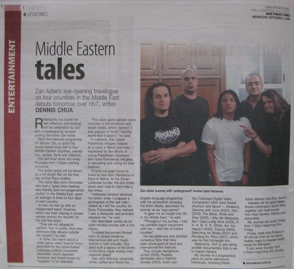 New Straits Times (3 Sept 08)