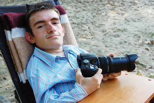 playing with Sony Alpha DSLR-A100