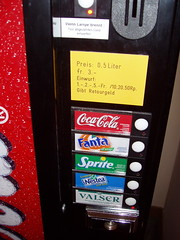 Luzern: Expensive Coca-Cola vending machine