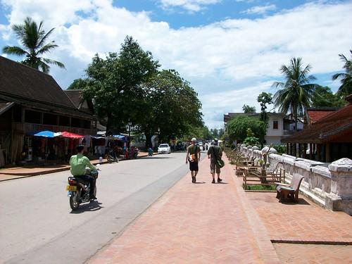 The town centre of Luang Prabang