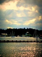 clouds open up (Mark Faviell Photos) Tags: sunlight clouds boats island islands bay bc gulf fave sail fabulous soe picnik silva gabriola golddragon isawyoufirst goldstaraward