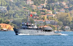 "Survey ship ""Cubuklu"", A594, Turkish Navy, Istanbul, Turkey, 8 September 2008 (Ivan S. Abrams) Tags: coastguard docks turkey boats nikon mediterranean ataturk ships istanbul maritime getty lighters nikkor tugs straits ports nikondigital blacksea gallipoli ferries harbors watercraft bosphorus tugboats gettyimages vessels freighters tankers harbours cruiseships barges smrgsbord smorgasbord warships destroyers ferryboats navyships speedboats frigates internationaltrade classicboats seaofmarmara navies containerships portcities navalvessels bulkcarriers nikonprofessional chokepoints onlythebestare boatnerd ivansabrams trainplanepro nikond300 internationalshipping sealanes ivanabrams worldwideshipspotters servicecraft gettyimagesandtheflickrcollection smorgasborf feriobots coastalfreighters marinecommerce internationalcommerce maritimecommerce seaportsseaportmaritime crossroadsasiaeuropebosforbogazasia minorboxesintermodal tugobats copyrightivansabramsallrightsreservedunauthorizeduseofthisimageisprohibited tucson3985gmailcom copyrightivansafyanabrams2009allrightsreservedunauthorizeduseprohibitedbylawpropertyofivansafyanabrams unauthorizeduseconstitutestheft thisphotographwasmadebyivansafyanabramswhoretainsallrightstheretoc2009ivansafyanabrams"