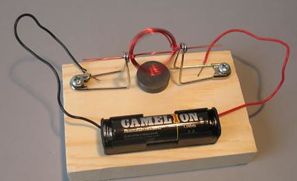 Simple Electric Motor Science Project