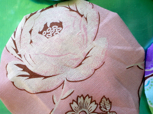 Reverse of Pink Cotton Floral Yo-Yo