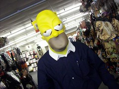 homer at halloween express crack a spine tags halloween yellow mask lexington dressup