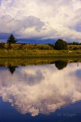 ...Reflections of our Summer Water Hole... (kia's r kid) Tags: sky lake reflection fall clouds landscape 50mm nikon hike september explore d100 2008 platinumphoto goldstaraward mwilsonphotoblogl
