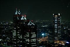 Torres Ante M (GuilleDes) Tags: japan tokyo shinjuku cityhall fotolog ayuntamiento tokio japn desenfocado