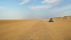 through the desert (kepje) Tags: africa road trip travel blue sky hot sahara desert jeep tunisia nowhere 2008 excursion afr tunezja afryka kepje hkwkhh