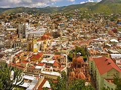 The color of Guanajuato (Nino H) Tags: city mountain colors mxico montagne mexico teatro sandiego basilica roofs universidad mexique guanajuato templo juarez toits plazadelapaz mywinners citysacape overtheexcellence