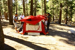 Setting up our tent (Kunal Rohilla) Tags: yosemite tuolumnemeadows