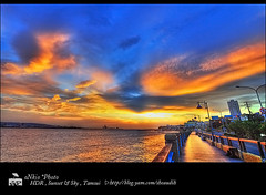 HDR - Photomatix Pro 3 Test (/Hsiao Ti,L PHOTOGRAPHY/oNkio Photo St) Tags: road sunset sky sun river nikon taiwan taipei hdr tamsui 1735 d700
