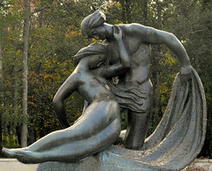Goddess Jurate and fisherman Kastytis (limajulija) Tags: sea fab sculpture baltic lithuania lietuva palanga botanicpark bej simplystunningshots