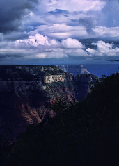 Grand Canyon North Rim (hz536n/George Thomas) Tags: blue summer sky orange film grandcanyon kodachrome canonae1 smrgsbord naturelovers cs3 kartpostal p1f1 topazadjust