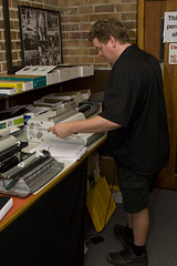 Thesis Getting Bound (pj_in_oz) Tags: portrait newcastle manatwork australia thesis nsw phd bounceflash canon30d canonef24105mmf4lisusm canonllens stofendiffuser thesissubmission 22october2008