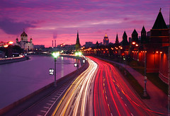 Moscow lights (Andrey Permitin) Tags: old pink light sunset color classic church clouds reflections purple moscow towers boring embankment kremlin banal    moscowriver      nikond200 lighttrials  flickrsbest tamron1750  colorphotoaward   platinumheartaward flickrbestpics