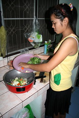 Miss Noot cooking