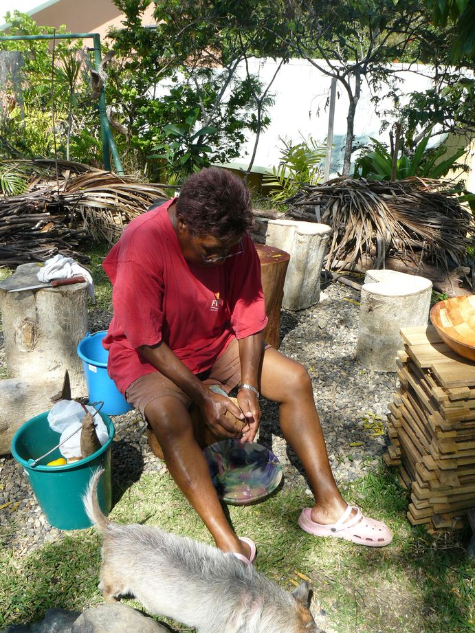 Bougna aux crevettes de Creek : Preparation #1