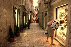 Budva Streets (Eni Turkeshi Imagery) Tags: street city people urban color texture window wall shopping pavement candid citylife atmosphere balkans cinematic coolest montenegro budva lifesyle explored marielito mywinners fotografkiraathanesi top25faves fotografeshqiptare fotografca