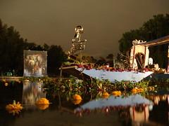 Navega Calaca (Carlos Segu) Tags: city flores water night de dead mexico skeleton boat reflex agua df cu day ciudad dia mexican espejo reflejo muertos unam 2008 trajinera calaca universitaria megaofrenda