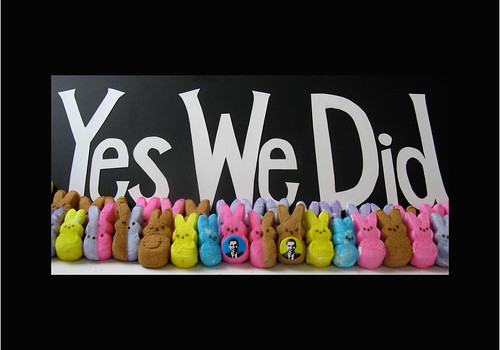 Obama's Peeps: Yes We Did!