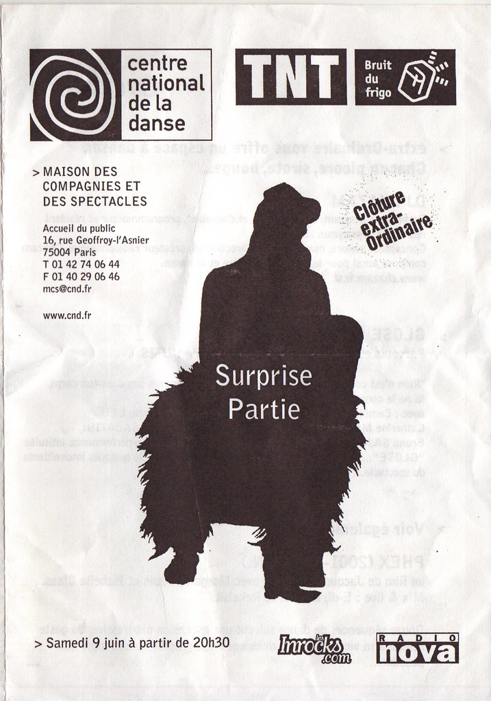 surprise party, Cnd, Paris, 2001