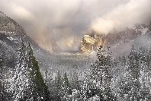 Snowstorm in Yosemite