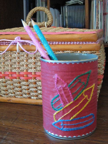 Tin can pencil cup | thornberry